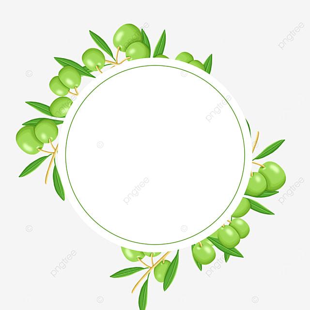 tender green round olive border