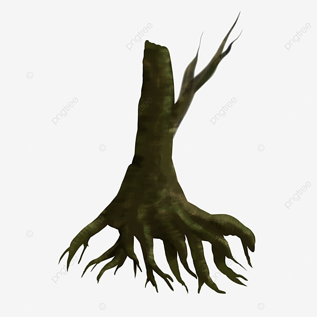 thick coated tree roots clip art