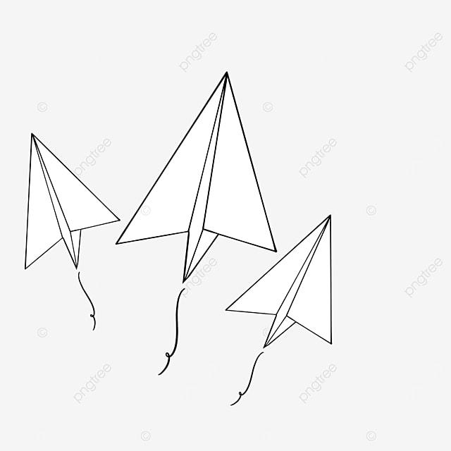 three paper planes flying upwards clipart