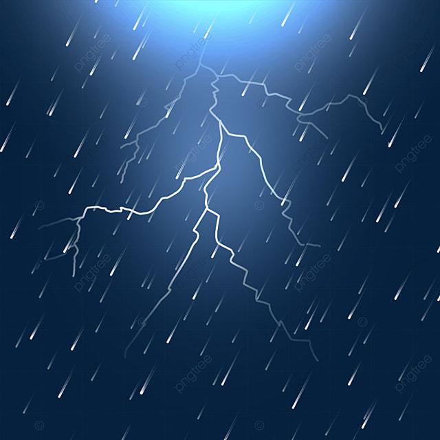 thunder lightning rainy weather
