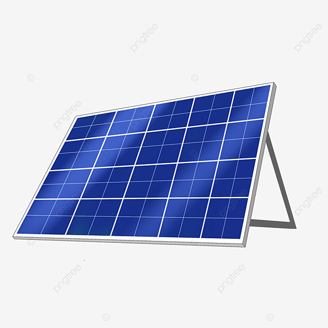 tilted solar panel clip art