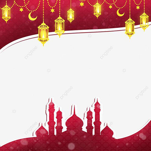 traditional festival lantern moon stars eid mubarak exquisite border
