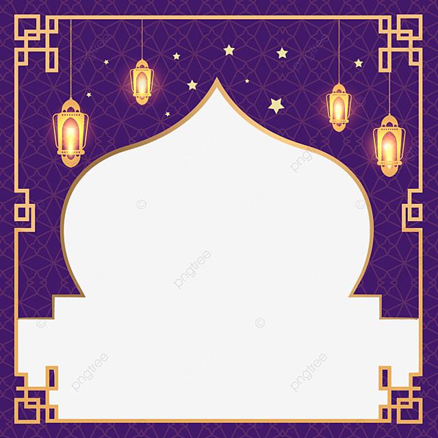 traditional patterns surround the exquisite border of eid mubarak