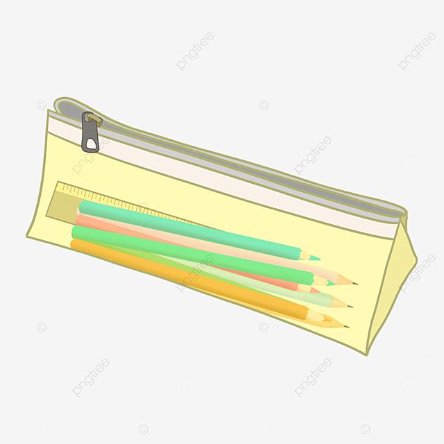 transparent pencil case children pencil case clipart