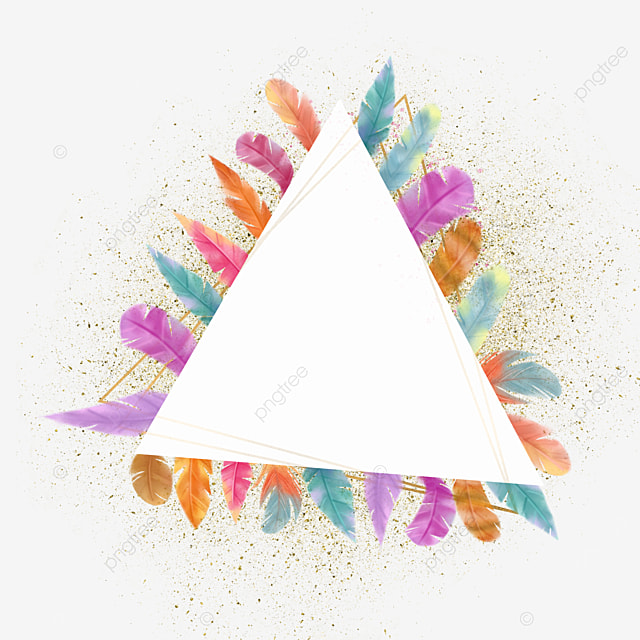 triangle color feather border