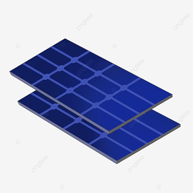 two rectangular solar panels clipart