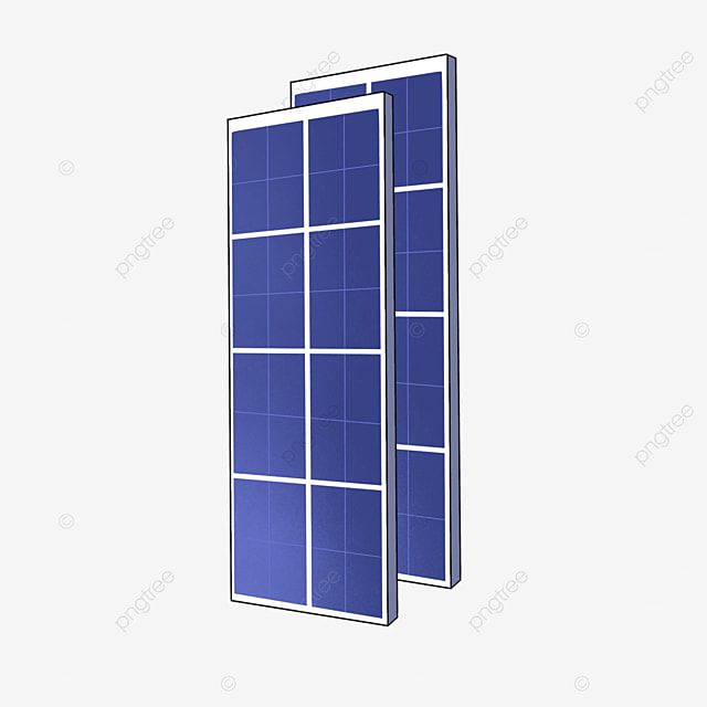 two solar panels clipart