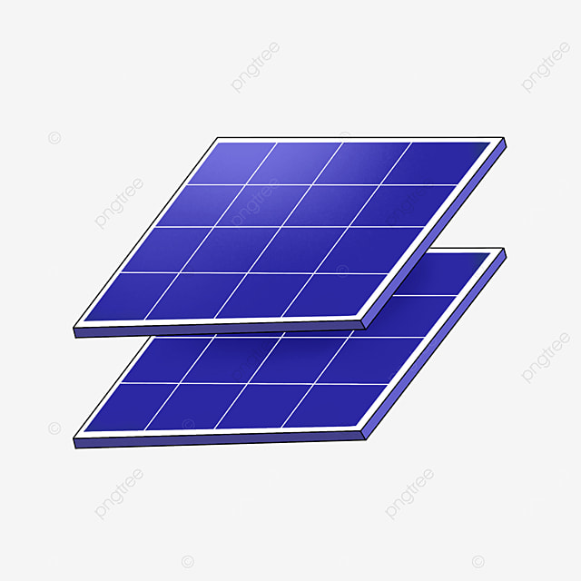 two square solar panels clipart