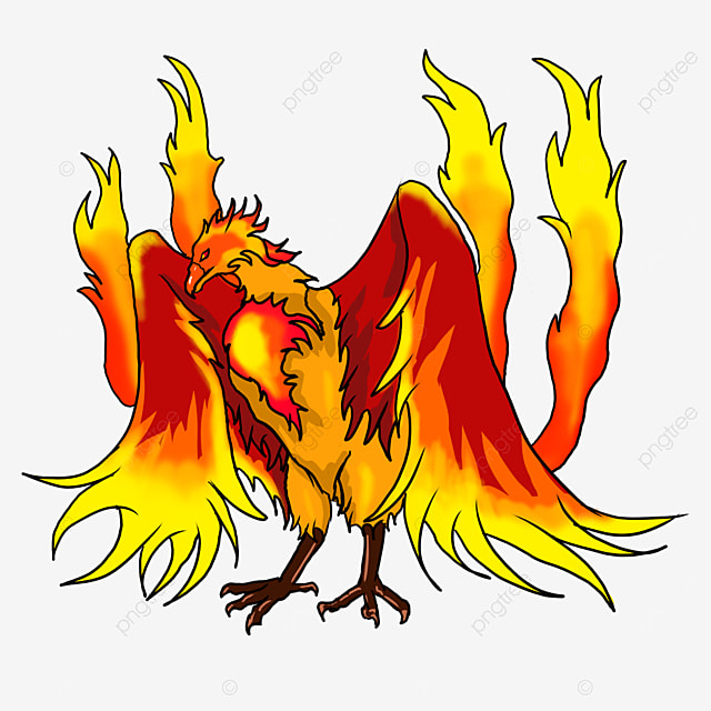 undead bird with wings spread out slightly clipart