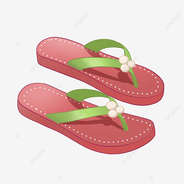 watermelon red cartoon lady flip flops clipart