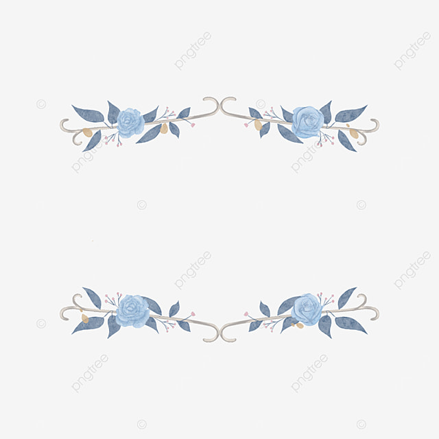 wedding blue rose border
