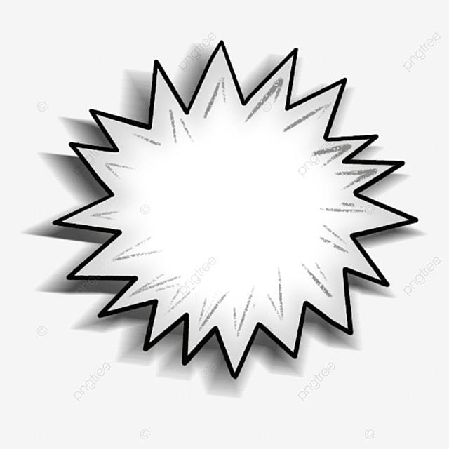 white cartoon style starburst clipart