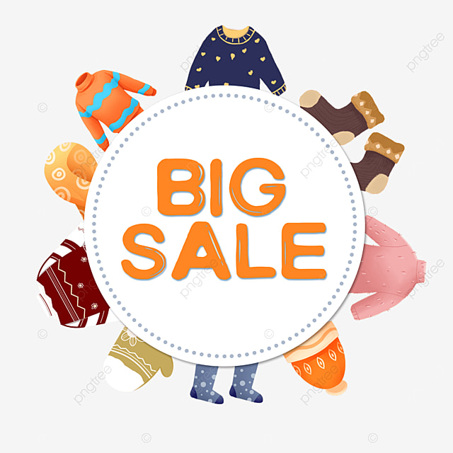 winter clothes big price reduction promotion border
