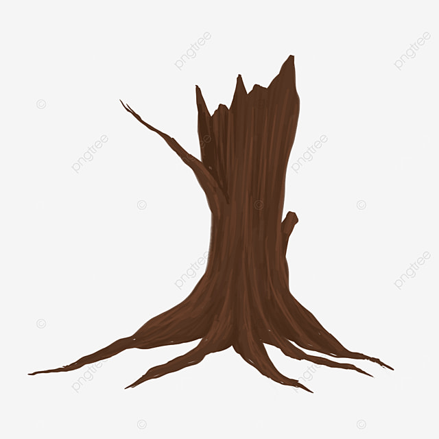 withered palm tree root clip art