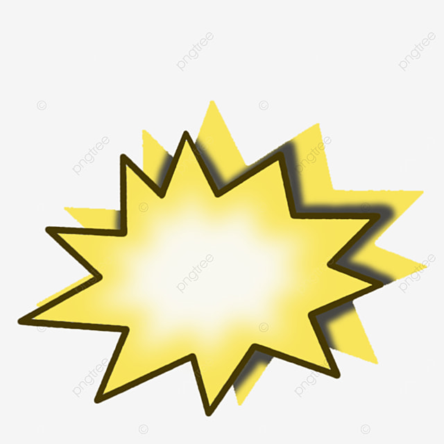 yellow cartoon style starburst clipart