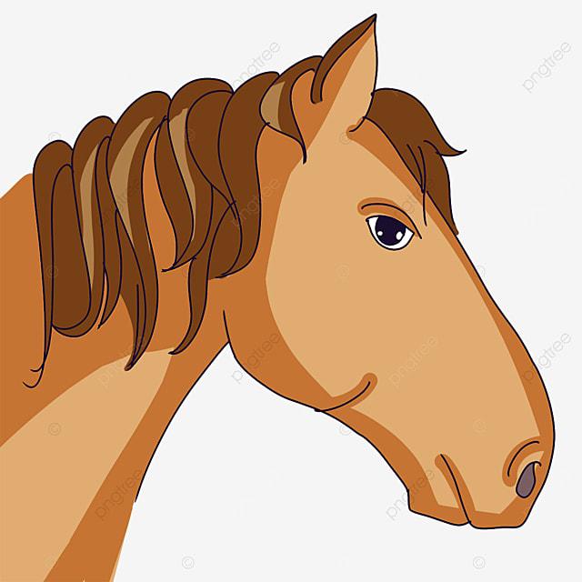 yellow horse head clipart
