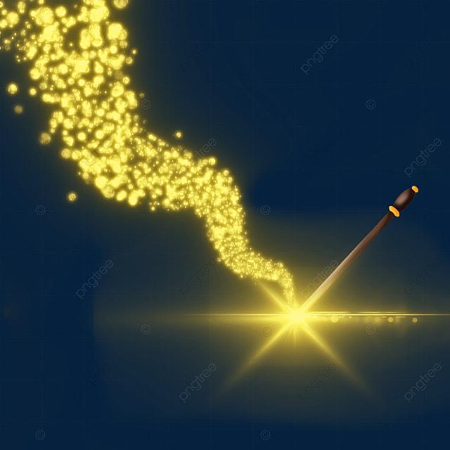 yellow wave light effect magic wand