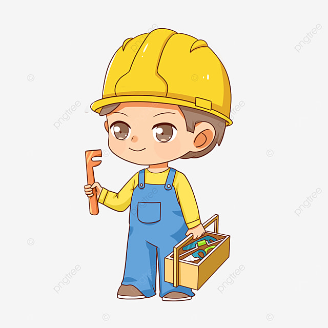 young construction worker clipart
