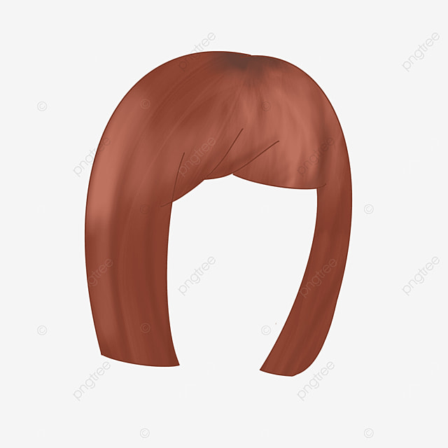 young female wig clipart