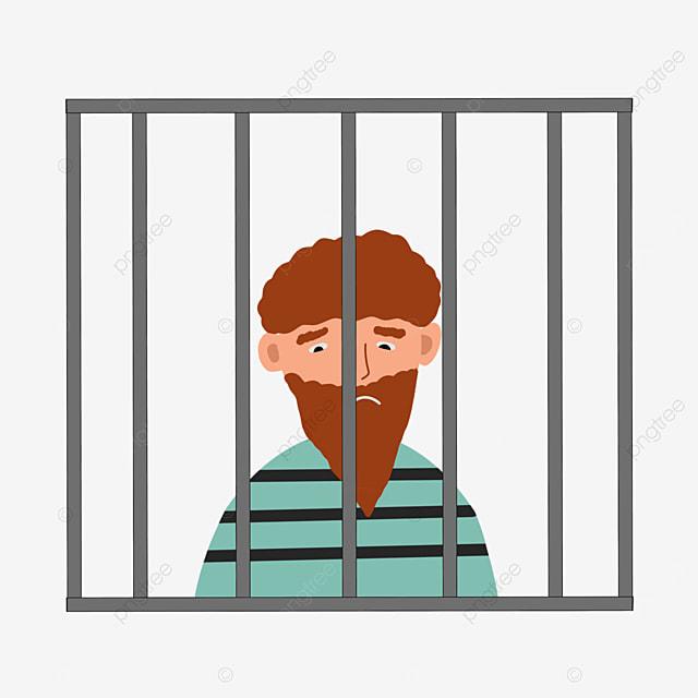 bearded prisoner prison clip art
