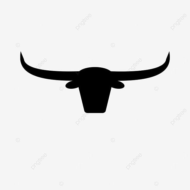 black bull longhorn cow clip art