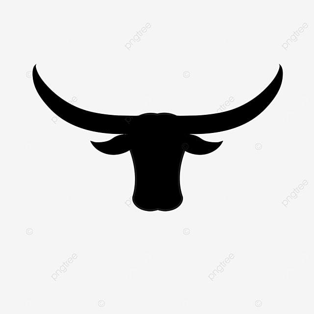 black cow longhorn cow clip art