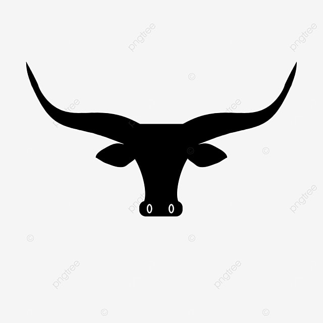 bull head long horn bull clip art