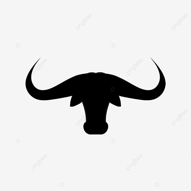 bull head long horn clip art