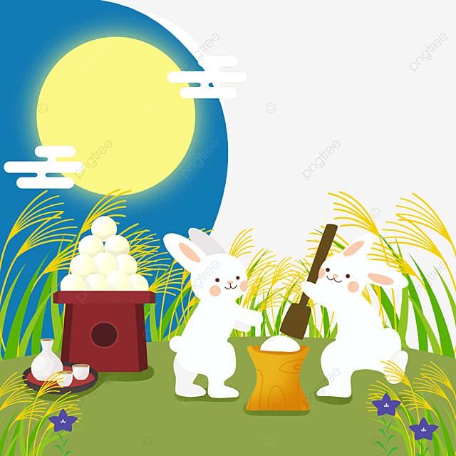 bunny traditional festival japan tsukimi dumpling