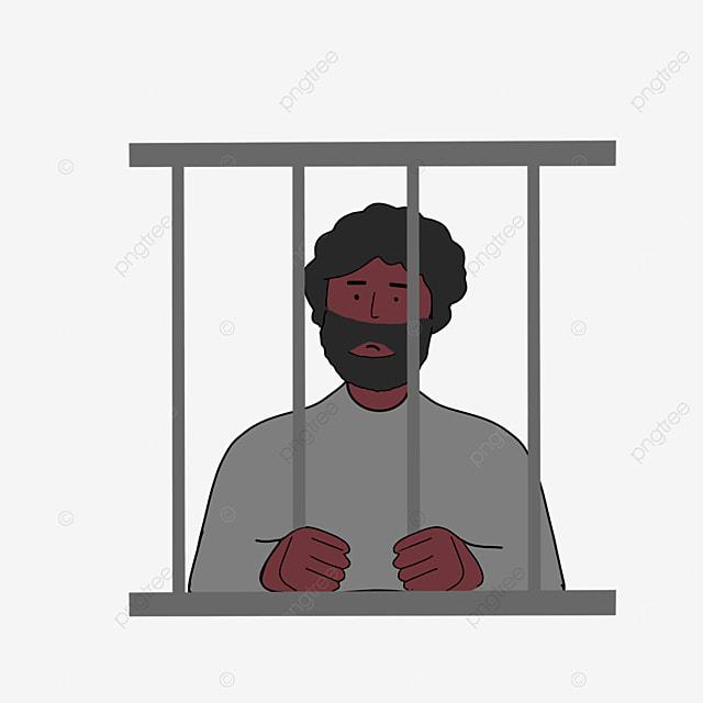 catch railing prisoner prison clip art