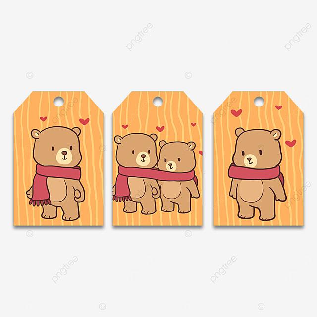 couple bear animal cute tags