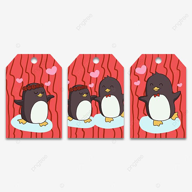 couple penguin animal cute tags
