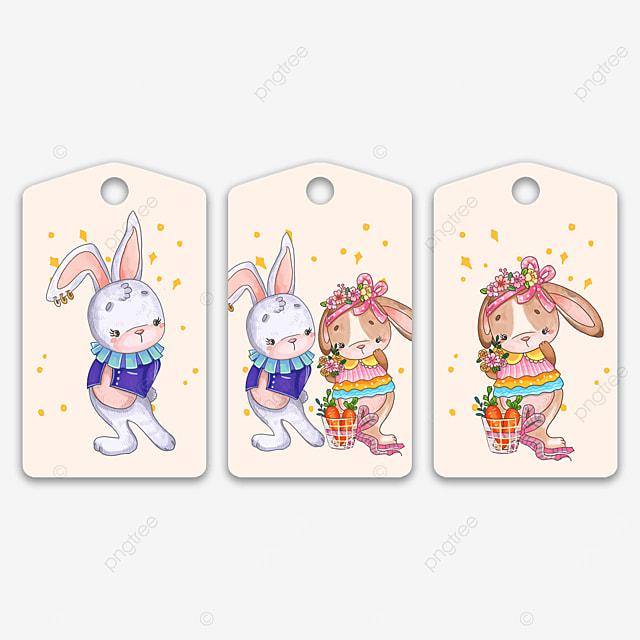 cute animal bunny couple tags