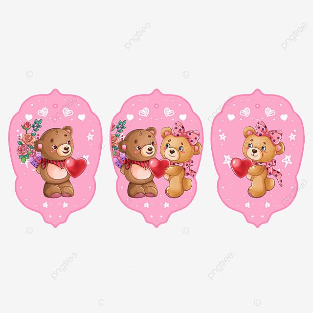 cute animal couple bear tags