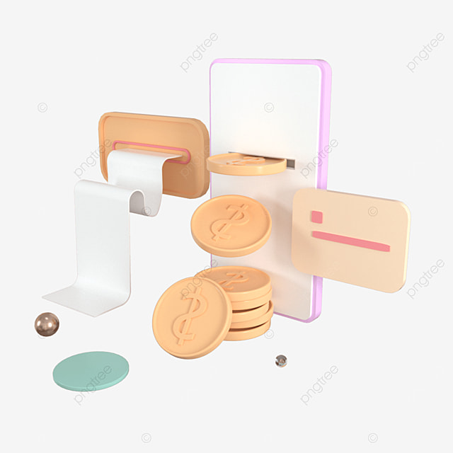 3d render of online money transfer payment secure online payment and mobile banking concept 3d illustration