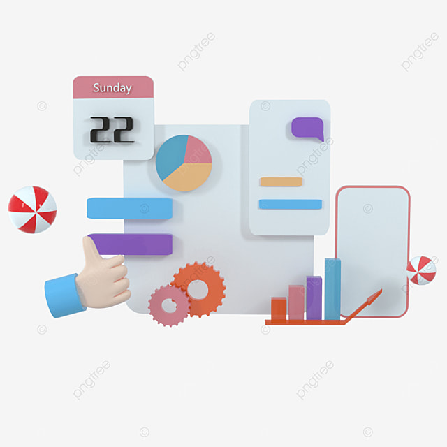 3d social media platform online social communication app concept emoji web search icon chat and chart with smartphone background 3d illustration