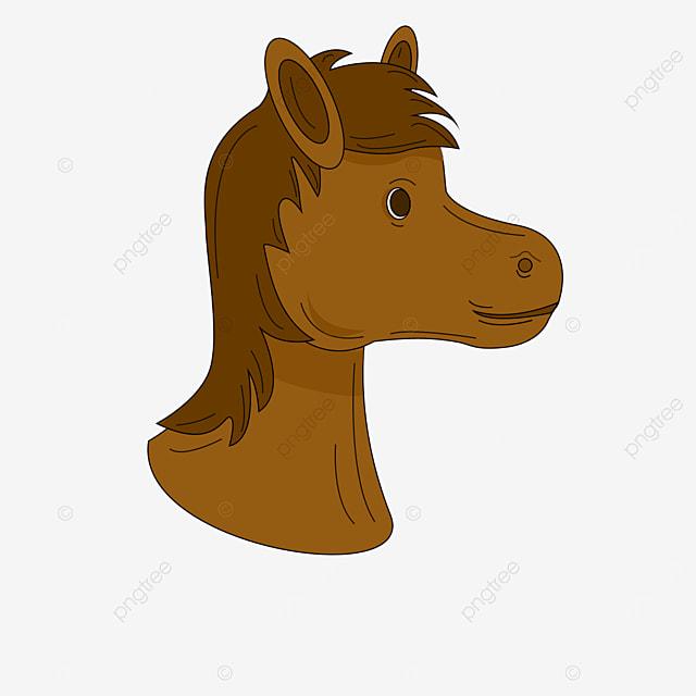 dark brown side horse head clipart