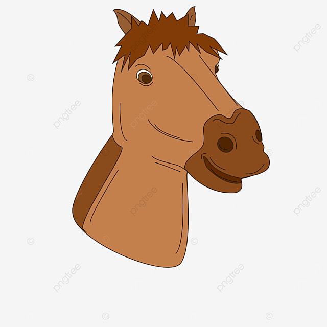 horse head brown clipart