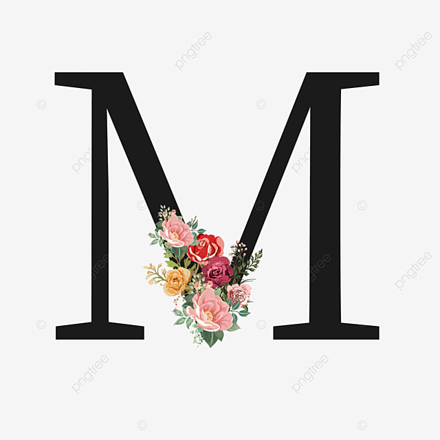 letter m from yellow rose flowers