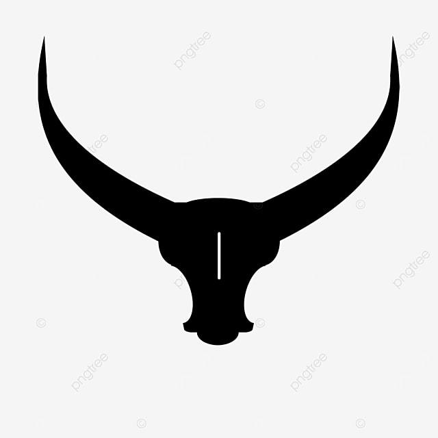 long horned cow clipart black animal long horns