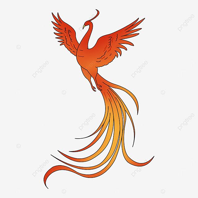 long tail stroke phoenix clip art