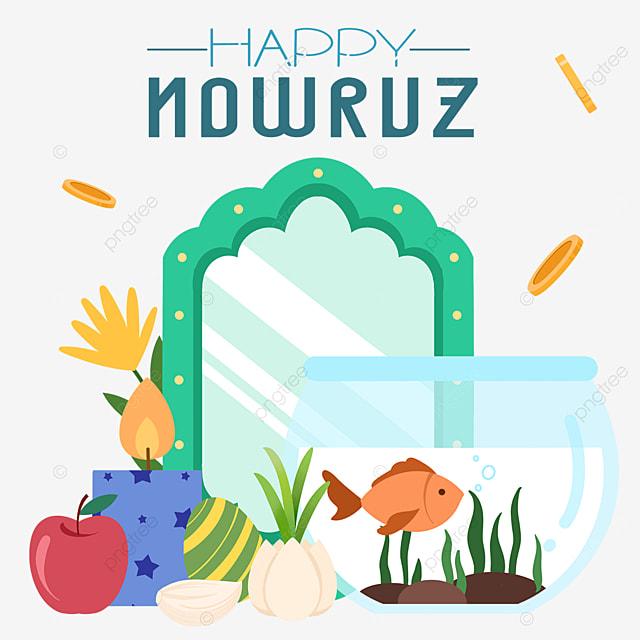 nowruz festival cartoon fish tank