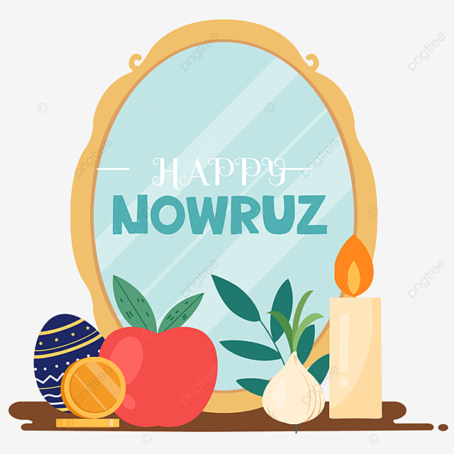nowruz festival cartoon mirror