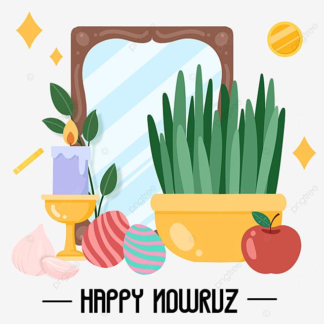 nowruz festival cartoon plant