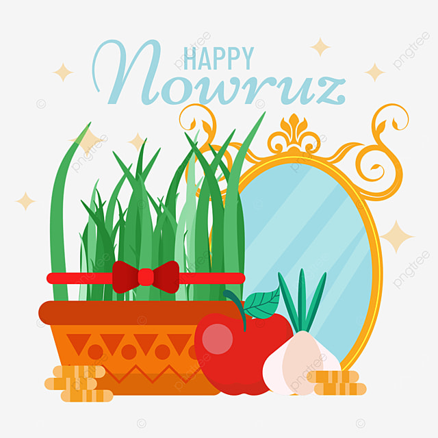 persian new year nowruz festival decoration illustration