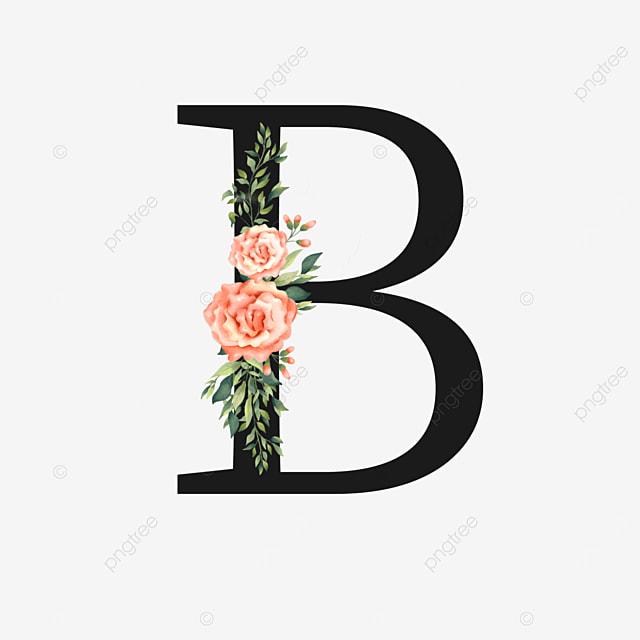 pink bouquet decoration flower letter b
