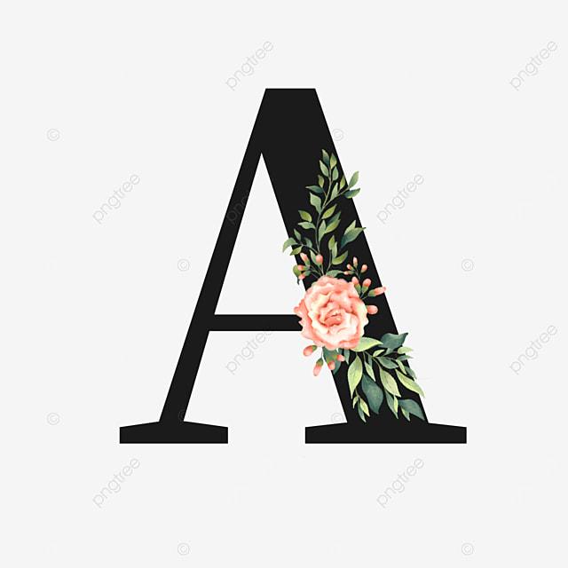 pink flower rose decoration flower a letter