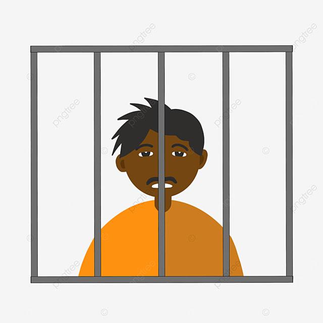 prisoners in prison uniforms prison clipart
