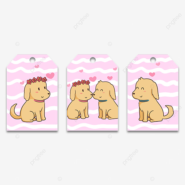 puppy couple animal cute tags