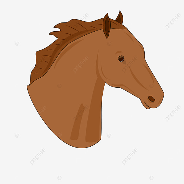 red brown side horse head clipart
